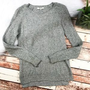 Madewell leafstitch crewneck sweater